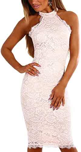 d200f873da4d YOINS Women Dress Sexy Bodycon Crochet Lace Wrap Front Long Sleeves Mini  Dress