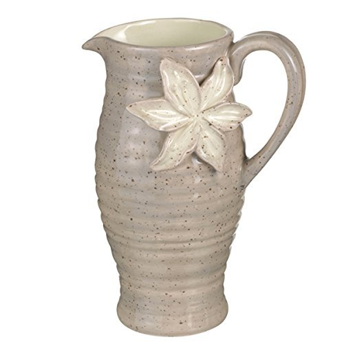 Grasslands Road Potters Wheel Pitcher, 14 Oz. (Hand Painted Jug)