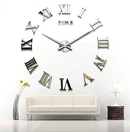 Asvert DIY Moderno 3D Wall Clock Orologio da Parete Numeri Romani Orologio  digitale e componibile acrilico