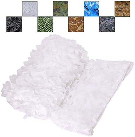 NIANXINN Camo Tarnnetz,150D Oxford Polyester Camouflage Netz,Weißes Sonnenschutznetz,Ideal als Sonnenschutz Tarnung Sichtschutz Für Bars Garten Camping Freizeit Tierbeobachtung(1.5x2m/5x6.6ft)