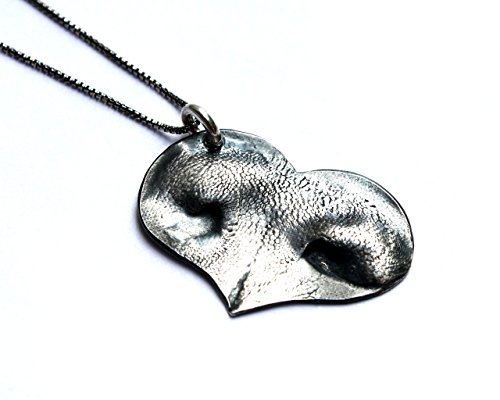 Custom fine silver pet nose or pawprint necklace, made from your pet's actual prints!!