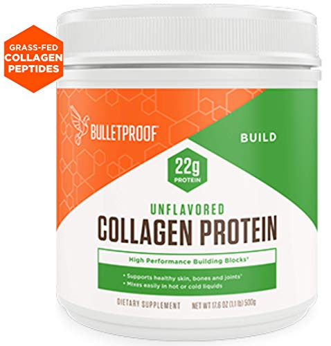 Bulletproof Collagen Protein Powder, Unflavored, Keto-Friendly, Paleo, Grass-fed Collagen, Amino Acid Building Blocks for High Performance (17.6 oz)