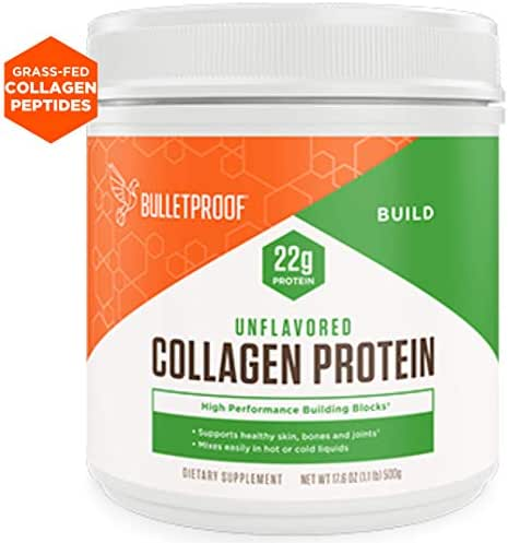 Bulletproof Collagen Protein Powder, Unflavored, Keto-Friendly, Paleo, Grass-fed Collagen, Amino Acid Building Blocks for High Performance (17.6 oz)