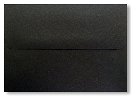 Jet Black 25 Pack A7 Envelopes 70lb for 5 X 7 Invitations Announcements from The Envelope Gallery