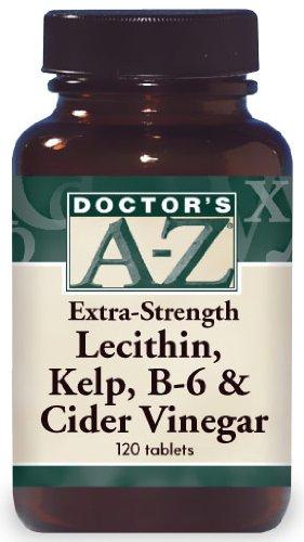 Extra-fort lécithine, varech, B-6 et le vinaigre de cidre (400 mg/35 mg/120 mg - 120 comprimés)