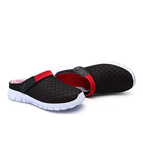 Rojo Flop FOBEY Flip de on Sandalias Mujeres Slip Malla Zapatos Parejas Deporte Hombres Transpirable wx7OqZgpTw