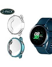 Jvchengxi [2 Pack Schutzfolie Kompatibel mit Samsung Galaxy Watch Active Schutzhülle 40mm,Vollständige Abdeckung TPU Silikon Cover Hülle für Galaxy Watch Active