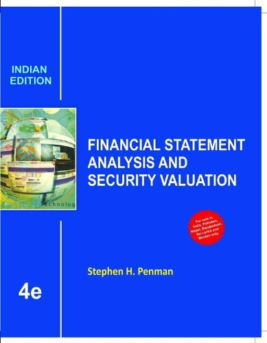 Buy Financial Statement Analysis And Security Valuation Book Online