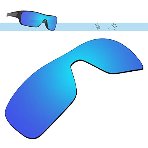 Glintbay 100% Precise-Fit Replacement Sunglass Lenses for Oakley Turbine Rotor - Polarized Ice Blue ()