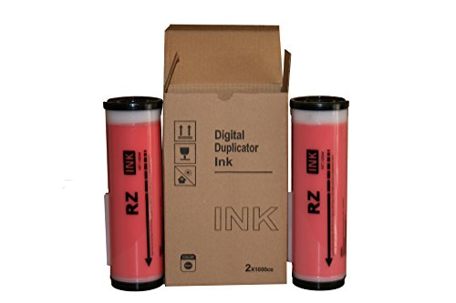 2 Red Wholesale Widgets Brand Universal Inks, Compatible with Riso EZ, MZ, and RZ Series Duplicators RISRZREDC ()