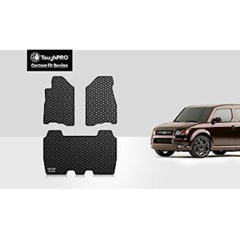 ToughPRO-Honda-Element-Floor-Mats-3-pc-set-All-Weather-Heavy-Duty-Black-Rubber-2007-2011