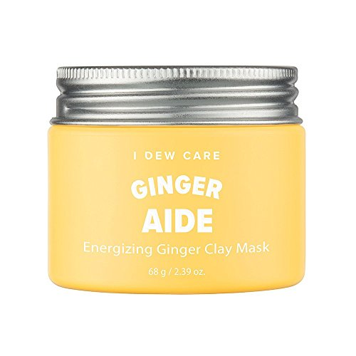 I Dew Care Magic Clay Mud Mask #GINGER AIDE(Energizing Ginger) 2.46 Ounces, Yellow jelly clay masks, Cleanse pores, Hydrate skin, Brightens dull skin, Facial healing mask by I DEW CARE