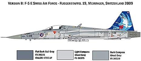 F-5 E Swiss Air Force Kit ITALERI 1:72 IT1420 Model
