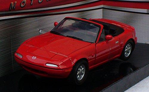 MotorMax 1/24 Scale Metal Model 73262 - Mazda MX5 Miata 1st Gen - red by motormax
