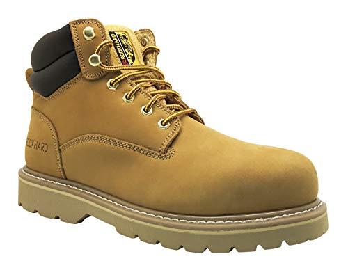 Rockhard Safety Men's 6'' Steel Toe Work Boot (8, Wheat) (Osha Safety Shoes)