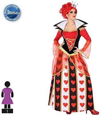 Atosa-54487 Disfraz Reina Corazones, Color Rojo, M-L (54487 ...