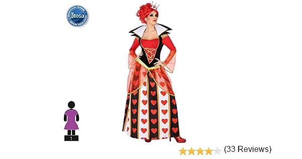Atosa-54488 Disfraz Reina Corazones, Color Rojo, XL (54488 ...