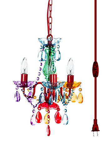 The Original Gypsy Color 3 Light Mini Plug-in Gypsy Chandelier for H16