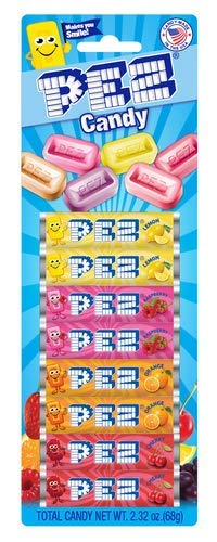 Assorted Fruit PEZ Candy Refill (Pack of 24)