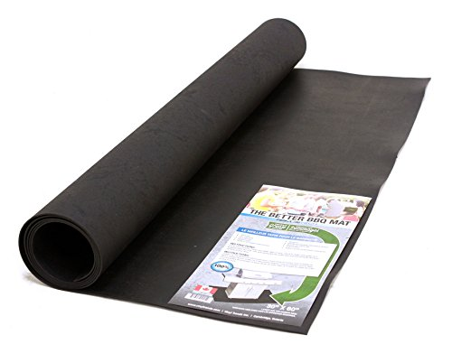 "Earth Edge AT000254 Barbeque Mat, 30"" x 60"", Black"