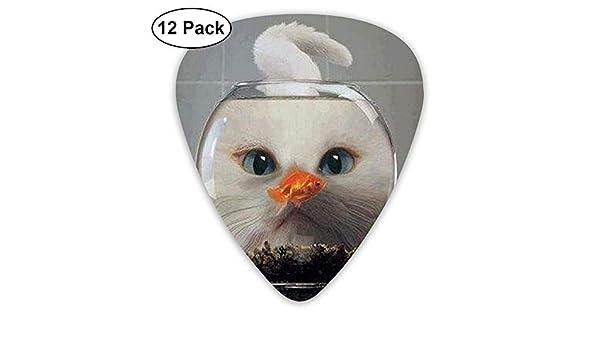 Anticso - Púas para guitarra personalizadas, diseño de pecera con ojos raros, regalo de joyería para amantes de la guitarra, 12 unidades: Amazon.es: ...