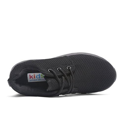 Hawkwell Zapatillas Camuflaje Ligero de Deportes Para Unisex Niños Negro