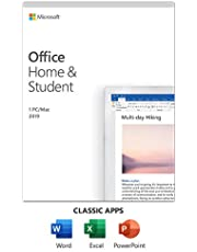 Microsoft Office Home & Student 2019 | One-time purchase, 1 person | PC/Mac Keycard