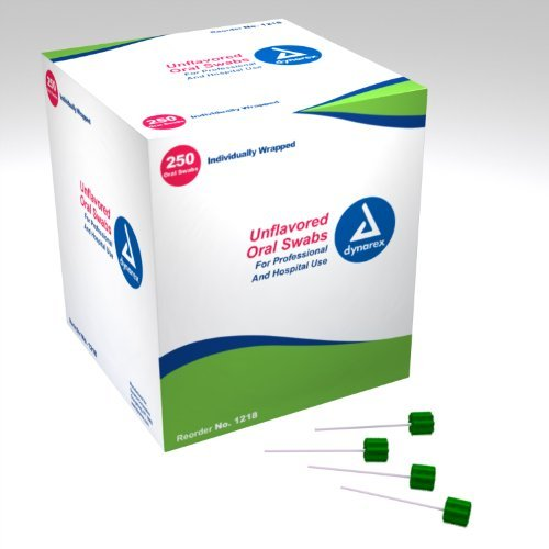 Dynarex Oral Swabsticks, unflavored (Individually Wrapped) 4/250/Cs by Dynarex