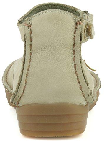 El Naturalista Damenschuhe NF87 Rice Field Komfortabler Damen Mary Jane Ballerina, Halbschuh mit Knöchelriemchen und Klettverschluss Piedra