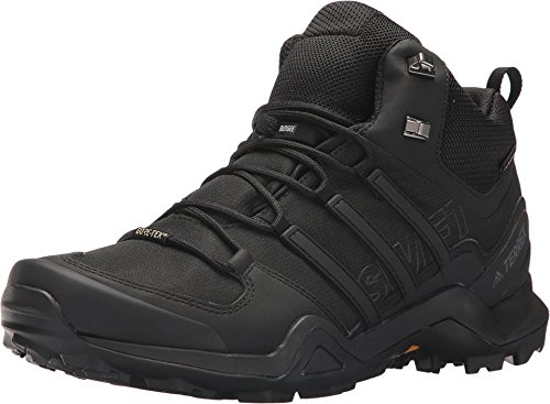 - adidas outdoor Terrex Swift R2 Mid GTX Mens Hiking Boots, Black/Black/Black, 11