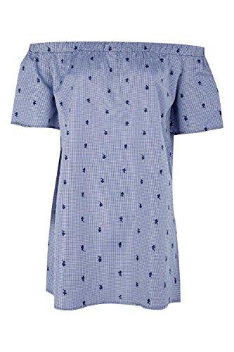 blue gingham dress size 12 - 7