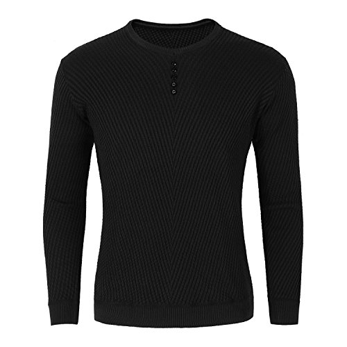 TAIPOVE Big Boys Youth Casual V-Neck Long Sleeve Elastic Twill Henley Sweater Pullover Junmper by TAIPOVE