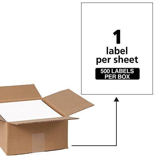 ss Labels, Laser Printers, 500 Labels, Full Sheet Labels, Permanent Adhesive, TrueBlock (91201) ()