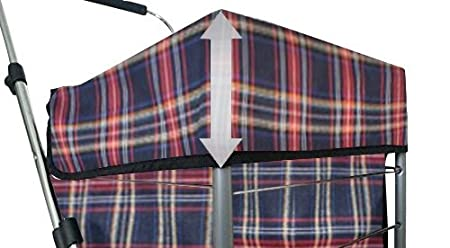 6 Gro/ße R/äder Herausnehmbare Tasche Blau-Rot Kariert Alexander Graham Einkaufstrolley