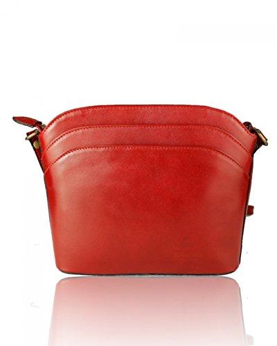 For Women's Cross BURGUNDY Shoulder Handbags 017 Italian Leather Leather BODY Bag Real Body Holiday BAG CROSS Bags LeahWard P1YwqUdP
