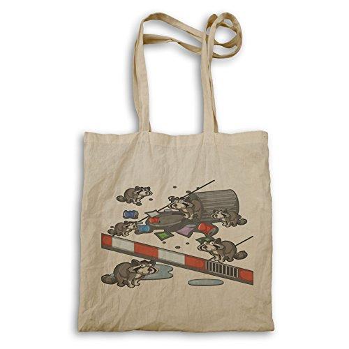 Waschbär Sucht Müll Tragetasche p601r