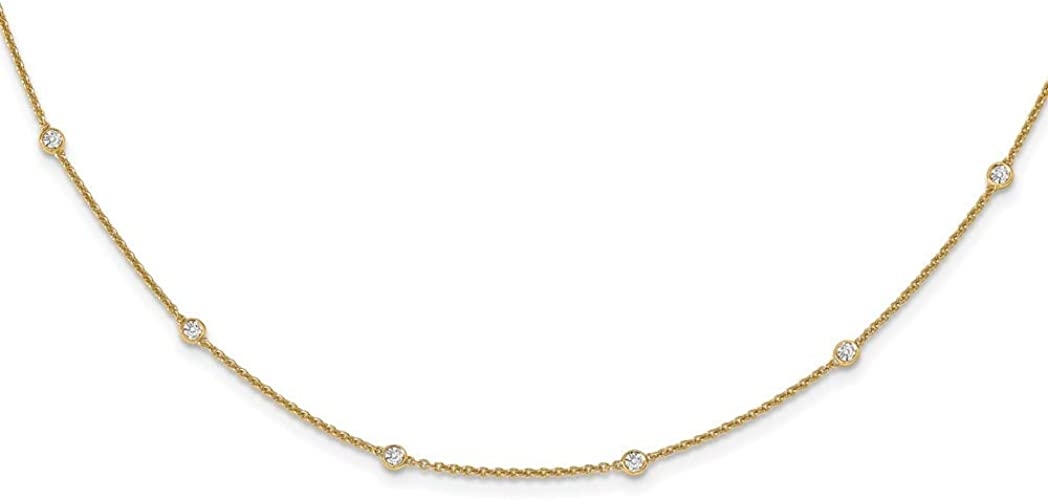 Sonia Jewels 14k Yellow Gold Round Rolo Chain Necklace With Lobster Claw Clasp