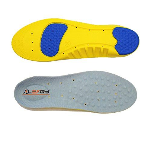 LEAGY Memory Foam Orthopedic Yellow Shoe Insole, Premium Insoles, Plantar...