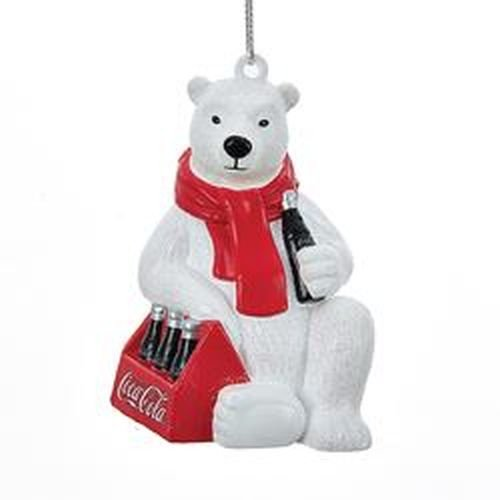 Coca Cola Stocking - Kurt Adler Coca-Cola Polar Bear with 6 Pack of Bottles Ornament