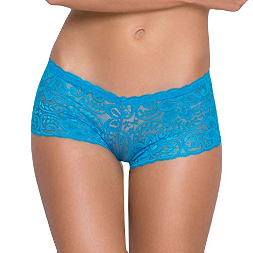 NewlyBlouW Womens Lingerie, Ladies Seduction Low Waisted Lace Panties Letter Underwear Adhesive Bras Soft Underpants Blue ()
