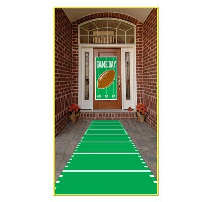 Super Bowl Supplies (Sports Field Runner (poly w/double-stick tape) Party Accessory  (1 count))