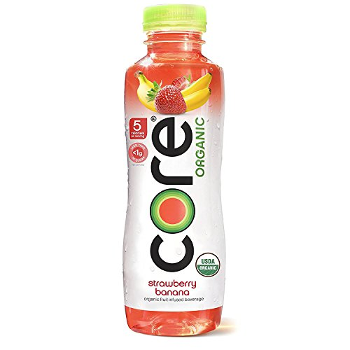Core Organic Fruit Infused Beverage, 18 Fl Oz, Strawberry Banana (Pack of 36)