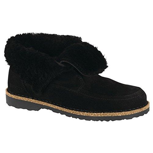 Birkenstock Women's Bakki Boot Black-Black Suede/Shearling Size 40 Regular EU