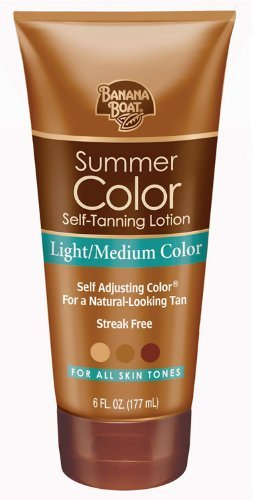 Banana Boat, Summer Color Self-Tanning Lotion, Light/Medium
