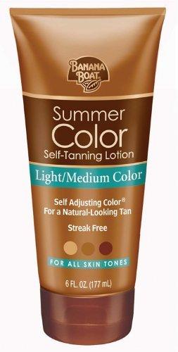 Banana Boat Self-Tanning Lotion, Light/Medium Summer Color for All Skin Tones - 6 Ounce by Banana Boat