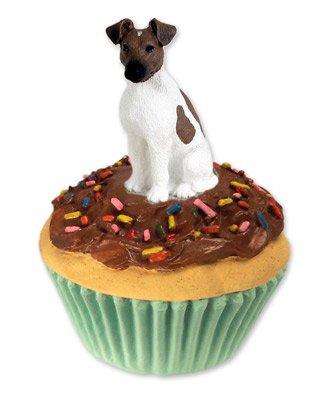 - Fox Terrier Brown & White Pupcake Trinket Box (Set of 3)