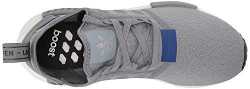 adidas Originals Men's NMD_R1 Running Shoe Grey/Active Blue, 4 M US by adidas Originals (Image #8)