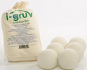 Trocknerbälle für Wäschetrockner aus Wolle von i-Gruv, 6er Set, für schonende...