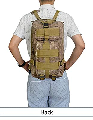 Lovinland 30 L Outdoor Backpack Tactical Rucksacks Military Trekking Bag for Hiking Camping Hunting Camouflage