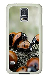 glitter Samsung Galaxy S5 covers Ladybug Love Animal PC White Custom Samsung Galaxy S5 Case Cover